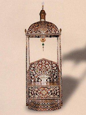 Sedefkar Mehmet Aga, Sultan Ahmed I Throne, 17th c (Topkapi Palace Museum)