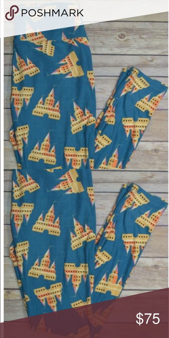 Lularoe NWT OS blue castle leggings RARE Lularoe NWT OS blue castle leggings RARE LuLaRoe Pants Leggings
