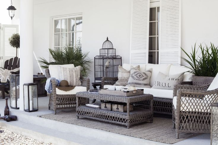 Gorgeous ideas for your veranda from Artwood - love the wicker furniture