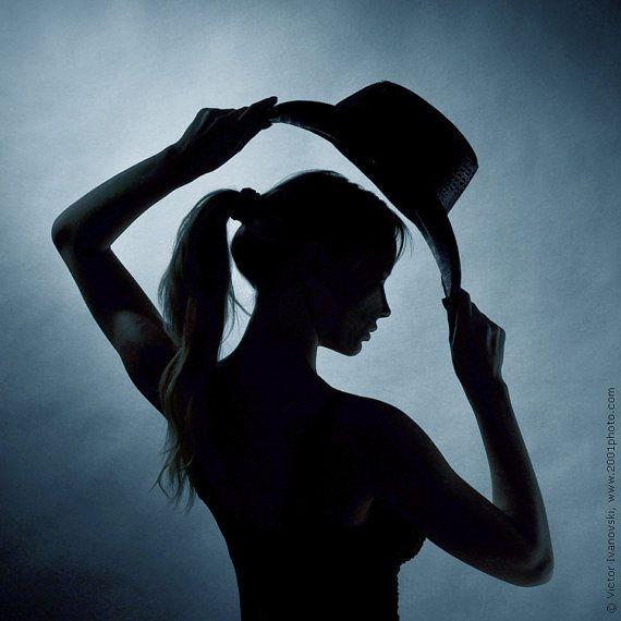 "Silhouette portrait ""Female silhouette"".  Fine art photography."