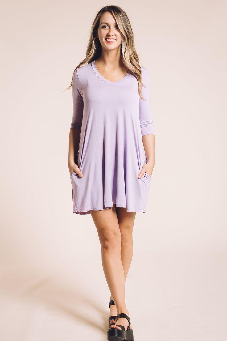 Becca Piko Dress in Light Purple