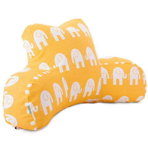 Yellow Elephant Reading Pillow   FREE SHIPPING    Click Here to Buy    Backrest Pillow with Arms
