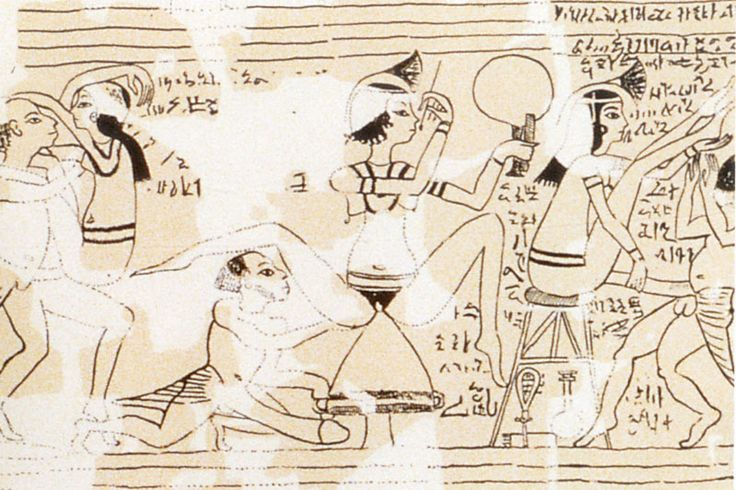 Detail from the Turin Erotic Papyrus - 1183 B.C.