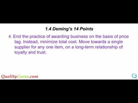 an analysis of the quality as one of deming management principles Deming management philosophy   deming 14 principles  14 points as a theory for management for improvement of quality,  top management and every one.
