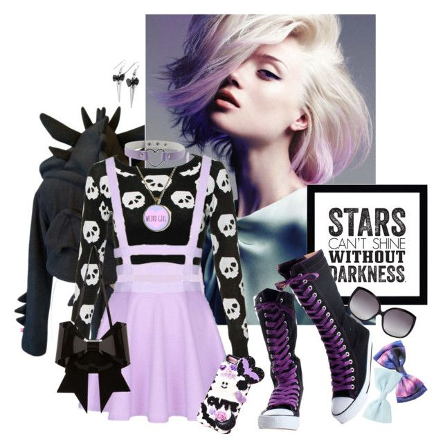 """""""Pastel Goth #3"""" by kaorikuro ❤ liked on Polyvore featuring BKE, Samsung, MM6 Maison Margiela and Linda Farrow"""