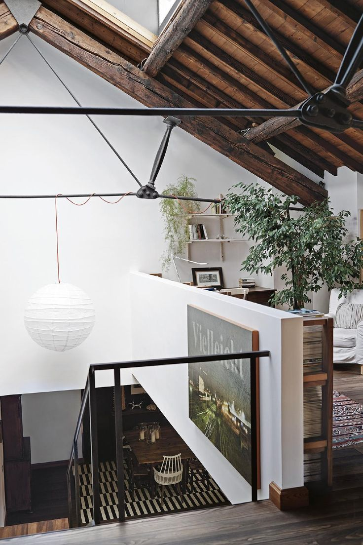 An architect converted an abandoned factory into a peaceful home. Photography by Fabrizio Cicconi. Styling by Francesca Davoli.  From the March 2018 issue of Inside Out Magazine. Available from newsagents, Zinio, https://au.zinio.com/magazine/Inside-Out-/pr-500646627/cat-cat1680012#/ and Nook.         #rustic #interiordesign #urban #insideoutmag