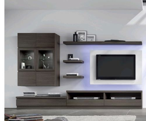 Modular Lcd Rack Panel Tv Moderno Living Le Charpentier L102 - $ 5.490,00