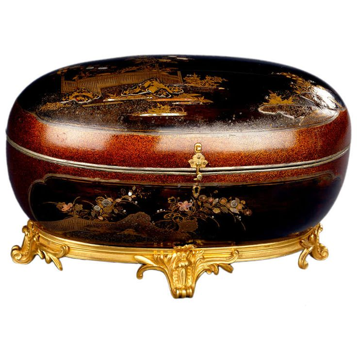 A Japanese Oval Lacquer Casket | From a unique collection of antique and modern boxes at http://www.1stdibs.com/more-furniture-collectibles/boxes/