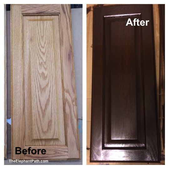 Dark Stained Kitchen Cabinets: General Finishes Gel Stained Bathroom Cabinets Before And