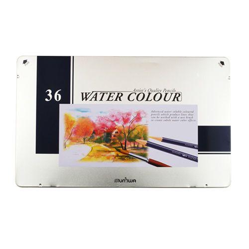 Munhwa Water Color Pencil Tin Case 36 Colors Drawing Sketching Writing  #Munhwa