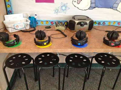 A Teeny Tiny Teacher: Listening Center Stools