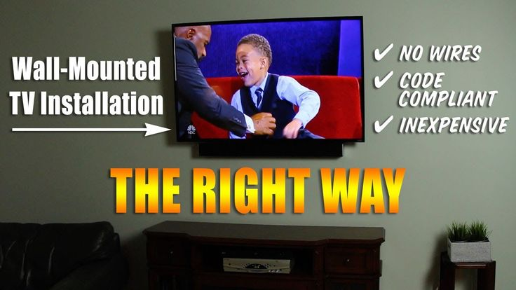 Wall Mounted TV Installation (code compliant) - YouTube