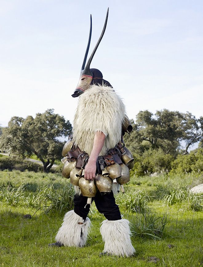 Boes, Sardinia, Italy. This animal-like creature promotes fertility in the land, cattle and women. Photo: Charles Fréger