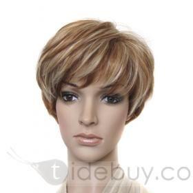 "Capless Short Bob Natural Brown 10"" Synthetic Hair Wigs"