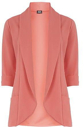 Womens coral fever fish waffle jacket from Dorothy Perkins - £30 at ClothingByColour.com