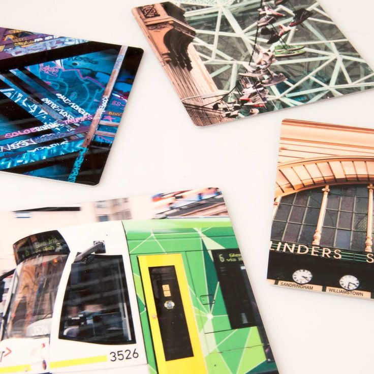 Get a set of 4 Melbourne images on very lightweight materials. Great to send overseas for a gift.