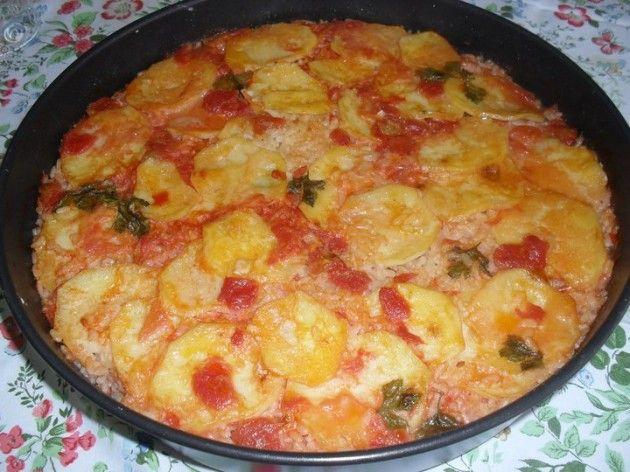 Ricetta riso e patate al forno - Le Meraviglie di Cicetta