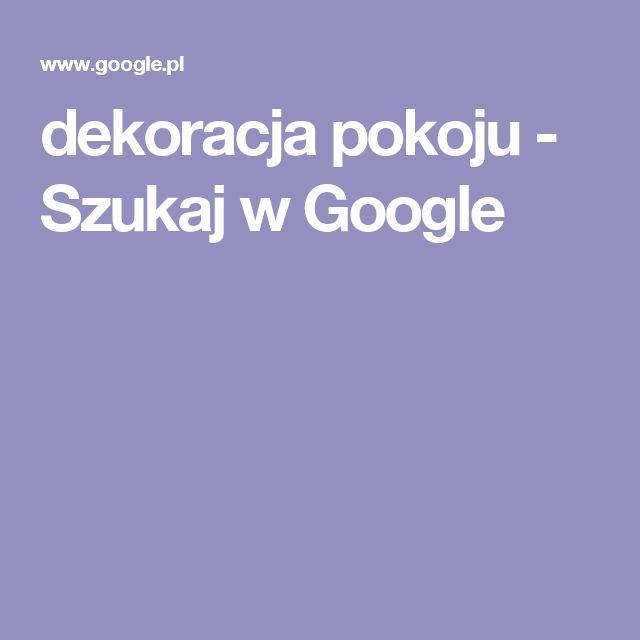 dekoracja pokoju - Szukaj w Google