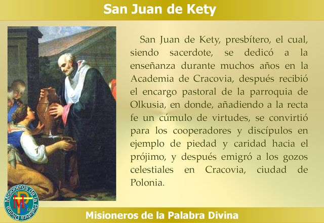 MISIONEROS DE LA PALABRA DIVINA: SANTORAL - SAN JUAN DE KETY