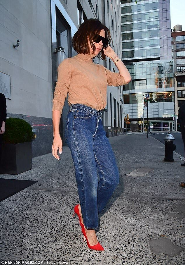 For Victoria Beckham, 43, it was time to let loose, as she celebrated the results of her NYFW SS18 runway show at New York's Balthazhar restaurant.