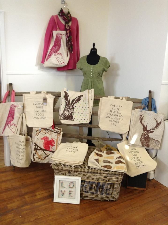 Our bags on sale at Fashion for Eternity in Derby.
