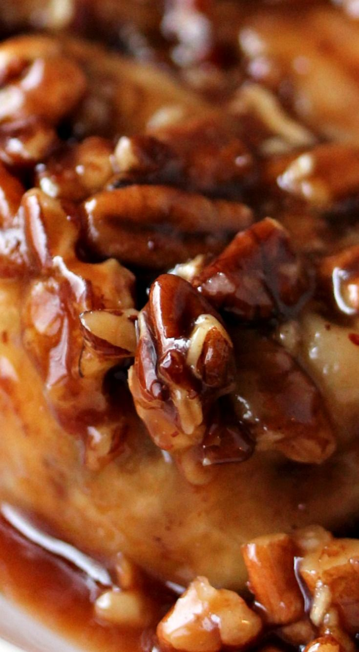 Overnight Apple Pecan Caramel Sticky Buns ~ This sticky bun recipe perfectly combines apples, pecans and caramel for the most amazing breakfast you will ever eat.