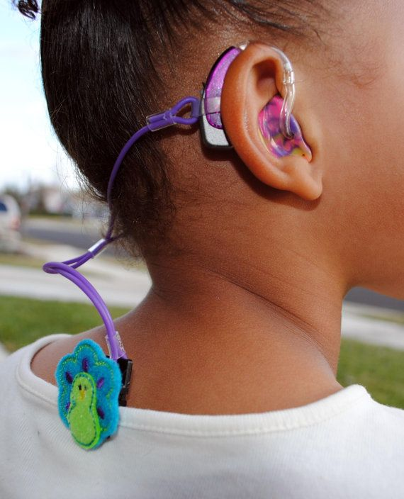 Cute Hearing Aid/ Cochlear Implant Jelly Retention Cord