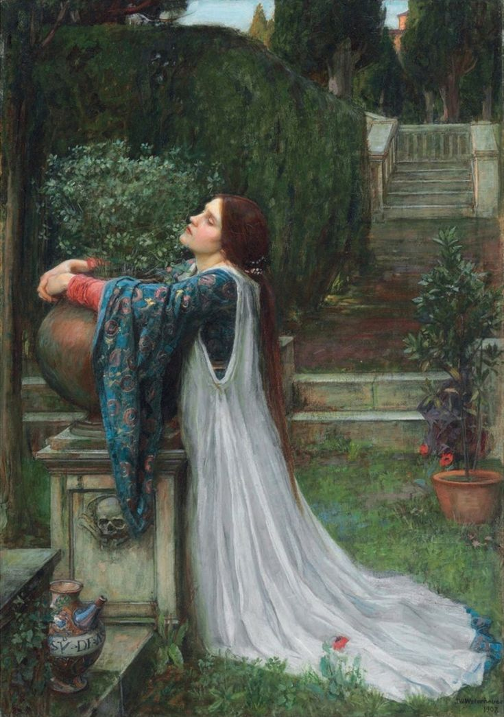 """pre-raphaelisme: """"Isabella and the Pot of Basil by John William Waterhouse, 1907 """""""