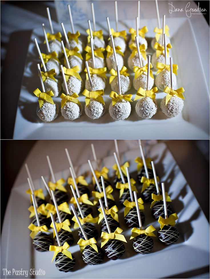 A Classic French Blue & Yellow Themed Wedding in St. Augustine,Fl. Wedding Cake + Cake Pops by The Pastry Studio