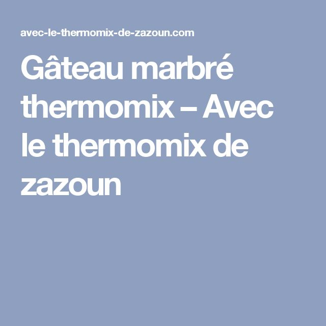 Gateau facon savane thermomix
