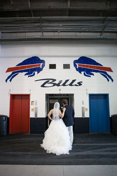 Buffalo Bills Wedding at Ralph Wilson Stadium