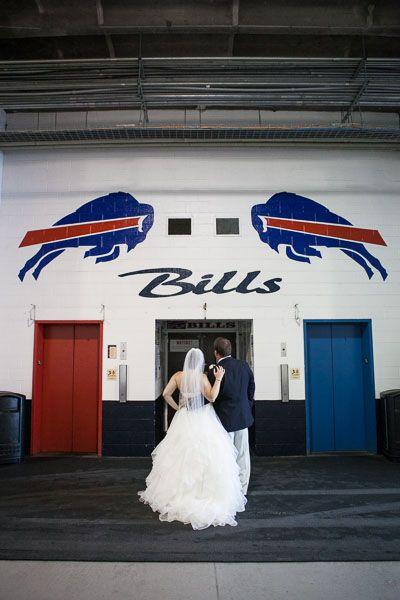 Buffalo Bills Wedding Pictures at Ralph Wilson Stadium! Classic Buffalo Wedding