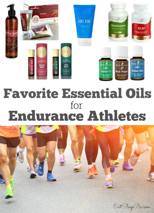 My favorite Young Living essential oils for endurance athletes for training and marathon day.