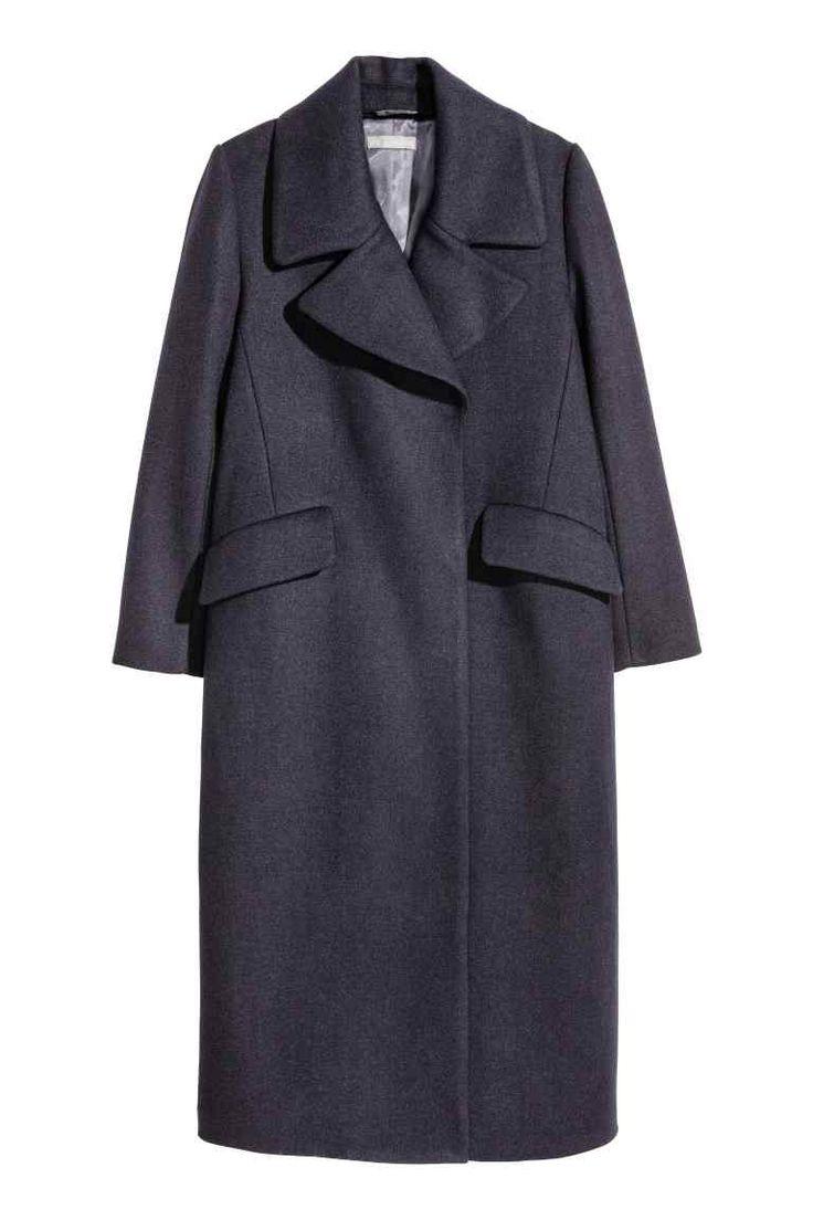 Cappotto in misto lana - Blu scuro - DONNA | H&M IT