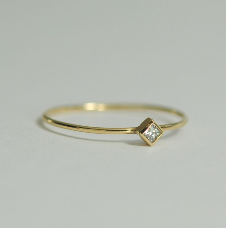 Diamond+Engagement+Ring+.05+Carat+Square+Diamond+2mm+by+bellaflor