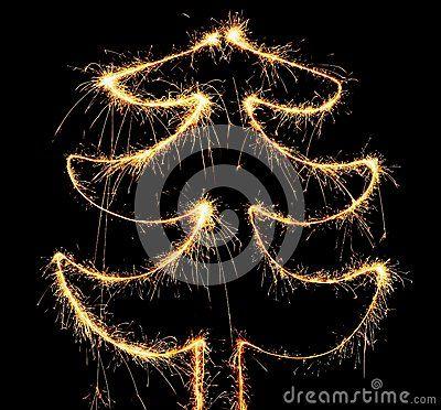 Рождественская елка бенгальского огня
