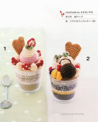 LOVELY AMIGURUMI SWEETS CAKES DESSERT JAPANESE HANDMADE CROCHET PATTERN BOOK 3 | by JapanLovelyCrafts