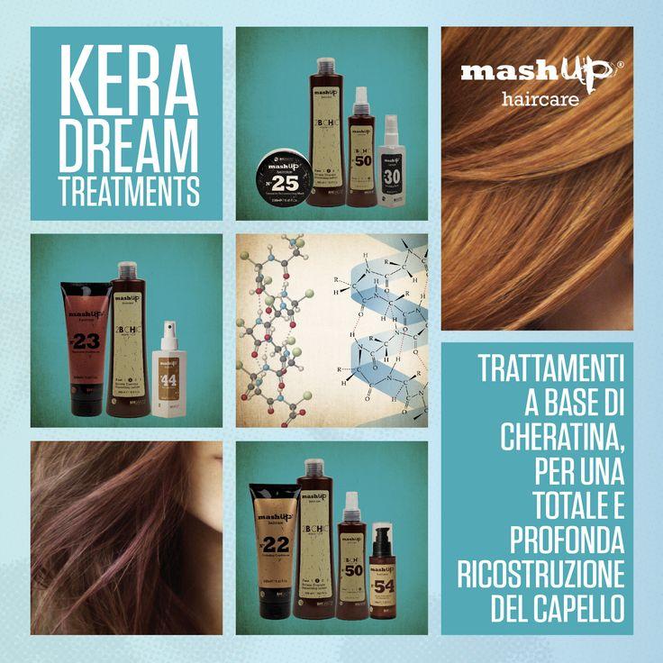 Solo i saloni Mashup sanno regalare il vero benessere ai tuoi capelli: Kera Dreams Treatments, i trattamenti a base di cheratina, per una totale e profonda ristrutturazione del tuo capello. Chiedi al tuo Parrucchiere Mashup!