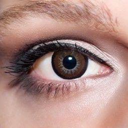 Braune große Kontaktlinsen 15mm farbige dunkelbraune Linsen Big Eyes Augen KwikSibs, ohne Stärke