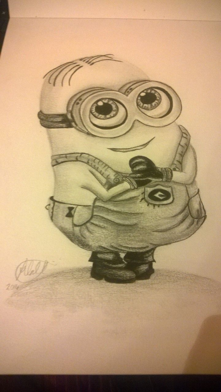 'Cute Minion' Pencil drawing inspired from Despicable Me #DespicableMe #minions #easydrawings