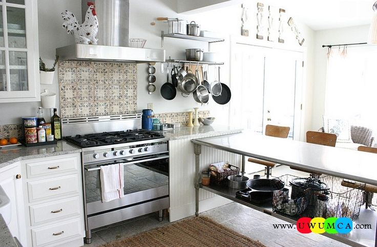 Kitchen:How To Clean Stainless Steel Kitchen Appliances Sinks Utensils Best Countertops Island Carts Table Chairs Dining Room Worktops Eclectic Kitchen With Stainless Steel Work Table How to Clean Stainless Steel for a Sparkling Kitchen Appliances and Sinks then Utensils