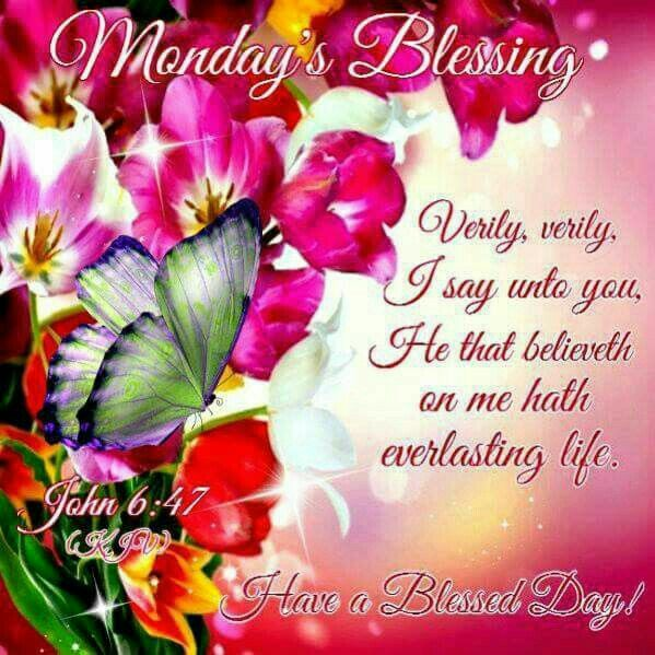Blessed Day Quotes From The Bible: 25+ Best Ideas About Monday Blessings On Pinterest