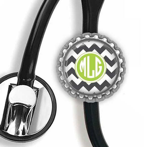 Matching Stethoscope ID tag Personalized, Match any design from Posh Reels, Bottle Cap Stethoscope ID tag on Etsy, $7.95