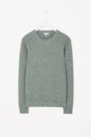 Mixed yarn jumper