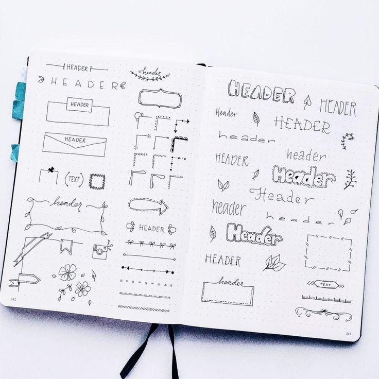 Resultado de imagem para doodle bullet journal ideas