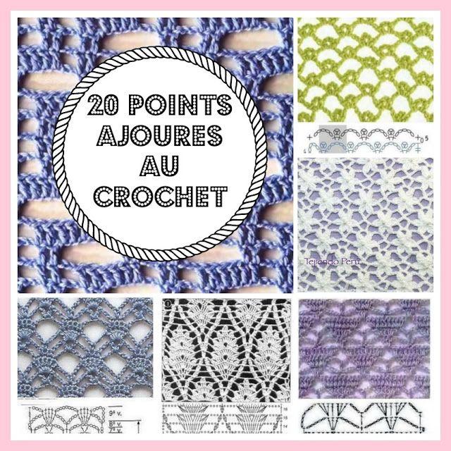 1000 id es sur le th me couvertures en crochet sur - Les differents points au tricotin ...