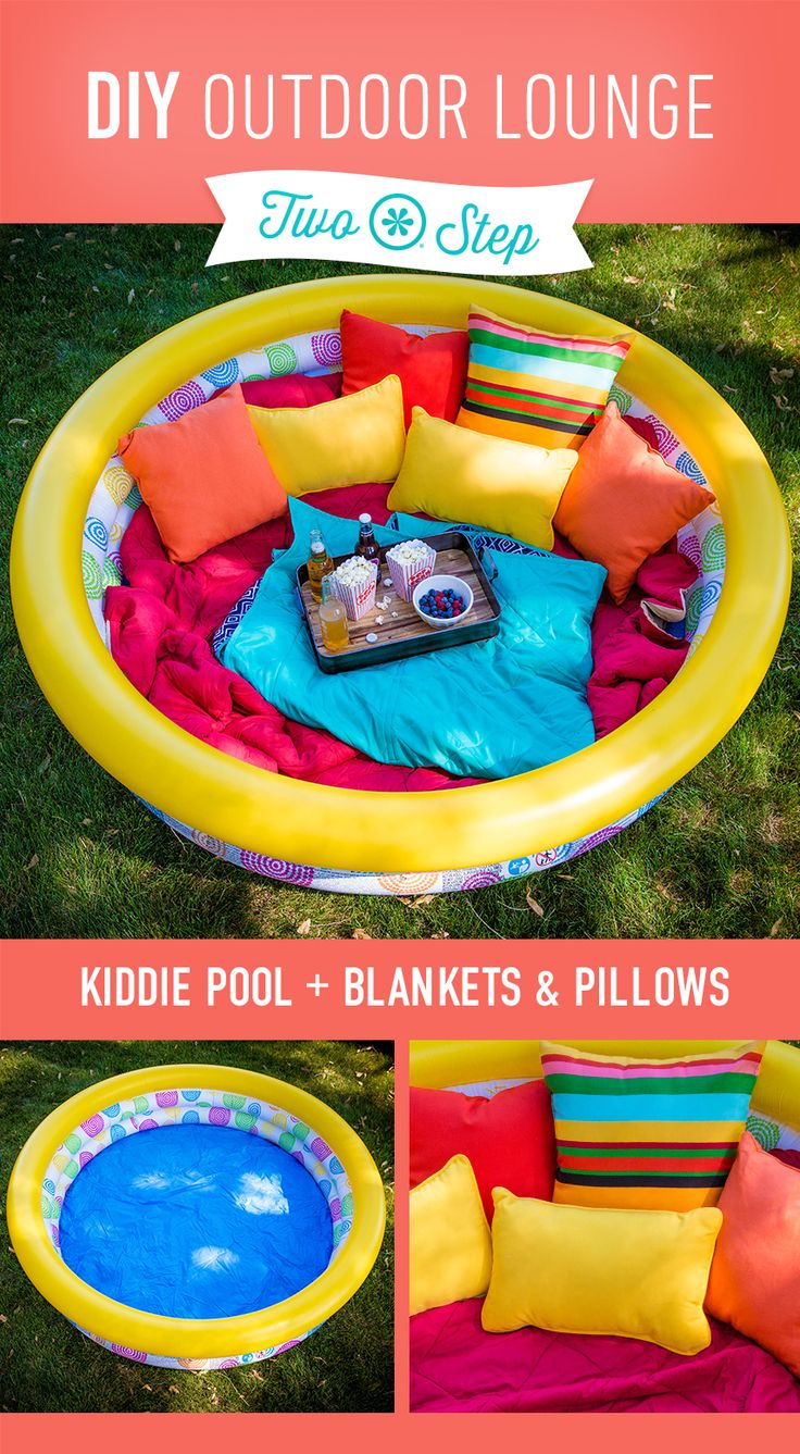 Soo tolle Idee - einfach den Pool zur #Outdoor #Lounge machen :) pool #DIY.