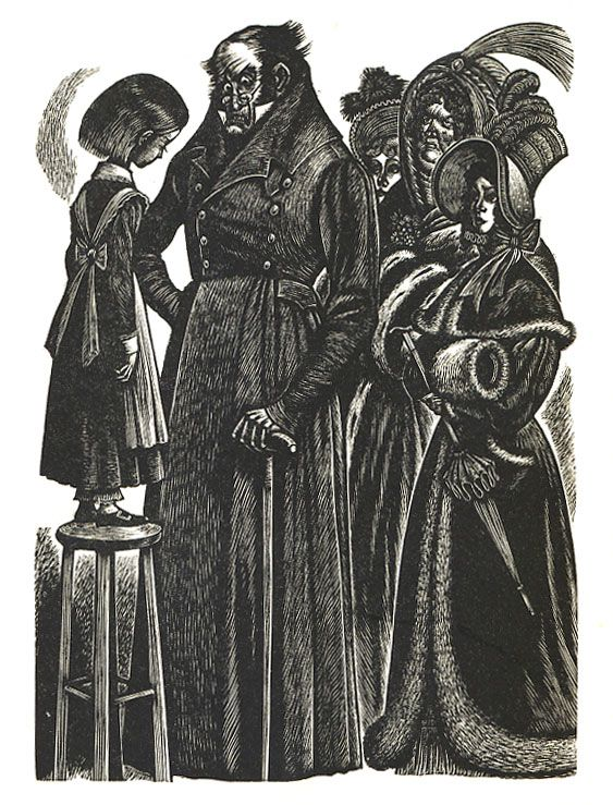 Jane Eyre, woodcuts by Fritz Eichenberg.