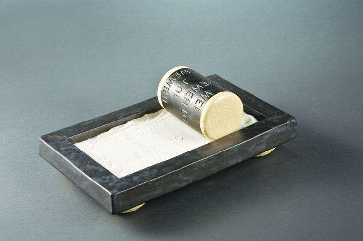Zsófia Karsai - Memento sandpress ceramic object http://www.magma.hu/muveszek.php?id=14