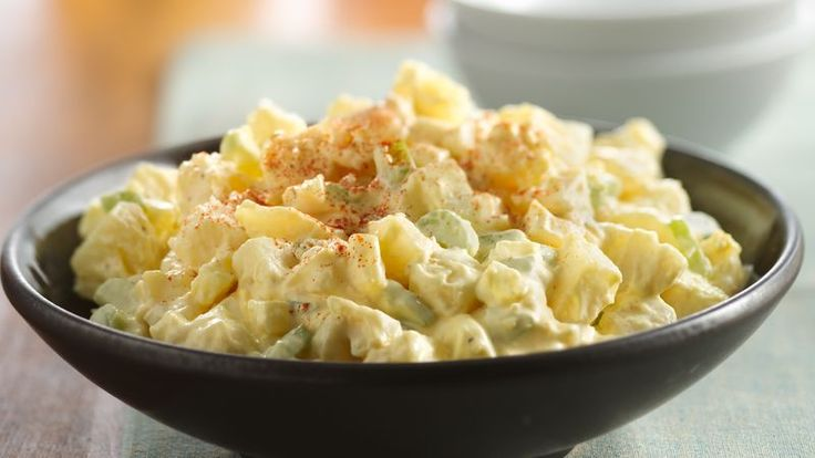 This classic potato salad recipe is a reliable favorite for picnics and parties. The crunch of celery balances this creamy potato salad that pairs perfectly with any potluck entrée, making this our go-to side for any get-together.